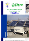 H2OPTIMA Solar Powered Water Purification Unit Brochure