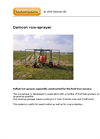Pulled Row-Sprayer Brochure