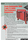 Trash Commander Tank - Stationary Compactors (2 and 2.5 Cubic Yard) Datasheet