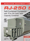 RJ-250 SC - Self-Contained Compactor with 15 to 39 Cubic Yard Capacity Container Datasheet