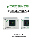 GrowControl - GC-Pro/XL - Cultivation Control Systems Manual