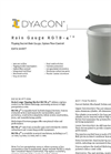 RGTB-4 - Tipping-Bucket Rain Gauge w/ Siphon Flow Control Data Sheet