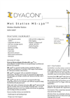 Dyacon - Model MS-130 - Solar Powered Weather Station Data Sheet