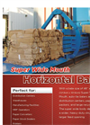 Wide Mouth, Auto-Tie Horizontal Baler Brochure for HLO