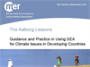 The Aalborg Lessons: Available Guidance and Practice in Using SEA for Climate Issues in Developing Countries