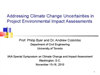 Addressing Climate Change Uncertainties in Project EIA