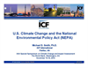 US Climate Change and National Environmental Policy Act