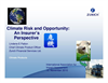 Climate Risk and Opportunity: An Insurer's Perspective