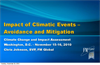 Impact of Climatic Events – Avoidance and Mitigation