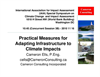 Practical Measures for Adapting Infrastructure to Climate Impacts
