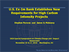 Export-Import Bank: New Requirements for High Carbon Intensity Projects