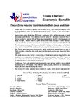 Texas Dairies: Economic Benefits- Brochure