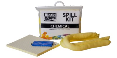 Lubetech - Model 20 L - Black & White - Chemical Spill Kit