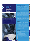 Shred-Tech - Model STS-2 - Single Rotor Shredder - Brochure