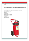 Model 1036968 - Wheeled Fire Extinguisher - Brochure