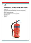 Model 1041544 - Stored Pressure Fire Extinguisher- Brochure