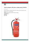 Model 1041540 - Catridge Operated Fire Extinguisher- Brochure