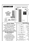 Growmaster Growcom - Single Zone Advanced Computer Control Systems Brochure