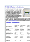 Schambeck SFD - Model RI 2012 - Differential Refractive Index Detector for HPLC, GPC/SEC - Brochure