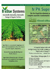 BioStar - Model N²PK SuperStim - Liquid Organic Poultry Soil Conditioner - Brochure