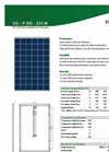VGS - Model P - 210W - Polycrystalline Panel Module - Brochure