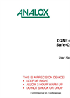 Analox - Model O2NE+ & Safe-Ox+ - Oxygen Deficiency Monitor - User Manual