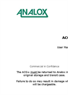 Analox - Model ACG+ - Compressed Air Monitor - User Manual