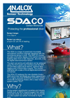 Analox - Model SDA Carbon Monoxide - Saturation Control Gas Monitoring - Brochure