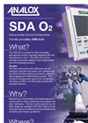 Analox - Model SDA O2 - Personal, Portable CO2 and/or O2 Safety Monitor - Datasheet