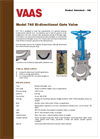 Model 740 - Full Lug Knife Gate Valves- Brochure