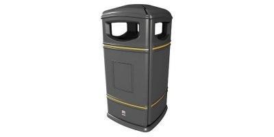 Leafield - Model 110 Litre - Heritage Square Hooded Litter Bin