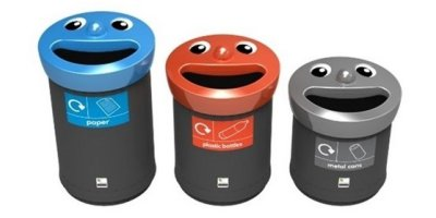 Leafield - Novelty Smiley Face Recycling Bins