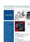 Tropel FlatMaster - Surface Form Analysis System - Brochure