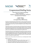 Congressional Briefing Notice- Brochure