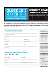 GLOBE 2012 - Exhibit Space Application Form