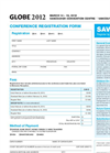 GLOBE 2012 - Conference Registration Form