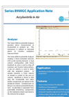 Series 8900 Acrylonitrile Gas Chromatograph Analyzer - Application Note