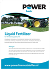 Liquid Fertilizer for Fertilizing Pastures Datasheet