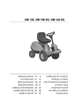 Castelgarden - Model XM 130, XM 140 HD, XM 160 HD - Front Mowers - Manual