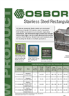 Osborne - Stainless Steel Rectangular Feeders Brochure