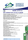 GFTS15A Self Contained Tank Shower & Eyebath Datasheet