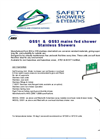 GSS1 / GSS3 Mains Fed Stainless Showers Datasheet