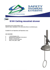 S100 Ceiling Mounted Shower Datasheet