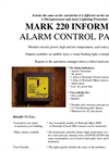 Model MARK 220 - Alarm Informer Brochure
