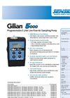 Gilian - Model 5000 - 5LPM - Personal Air Sampling Pump (20 - 5,000 cc/min) - Datasheet