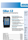 Gilian - Model 12 - High Flow Personal Air Sampling Pump (4 - 12 LPM) - Datasheet