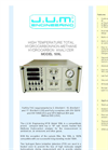 Model 109L - Heated Non Methane/ Methane/ Total Hydrocarbon FID Analyzer - Brochure