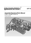 Quadivator - Model UTV - Tandem Disc - Manual