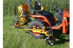 Weed Badger - Model 4200 18-30 Engine HP - Rugged In-Row Tiller for Smaller Tractors