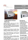 ETG - Model 6900 - Methane Gas Analyser for Emission Monitoring in Landfill - Brochure